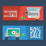 Online onderwijs vlakke illustratie Royalty-vrije Stock Foto