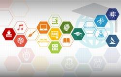 Online Onderwijsachtergrond stock illustratie
