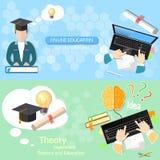 Online onderwijsconcept Stock Foto