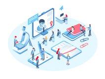 Online onderwijsconcept Online trainingscursussen, specialisatie, universitaire studies Stock Afbeelding