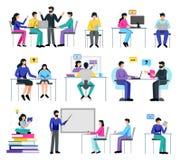 Online Onderwijsreeks stock afbeeldingen