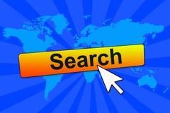 Online onderzoek stock illustratie