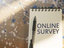 Online Onderzoek, het Motieven de Commerciële Marketing van Internet Concept van Woordencitaten stock afbeelding