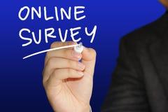 Online Onderzoek, het Motieven de Commerciële Marketing van Internet Concept van Woordencitaten stock foto
