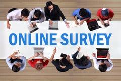 Online Onderzoek, Motieven de Commerciële Marketing van Internet Woorden Qu royalty-vrije stock fotografie
