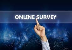 Online Onderzoek, Motieven de Commerciële Marketing van Internet Woorden Qu stock afbeeldingen