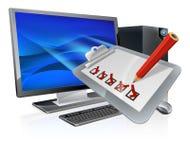 Online onderzoeksconcept Royalty-vrije Stock Afbeelding