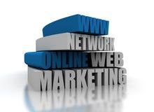 Online op de markt brengend royalty-vrije illustratie