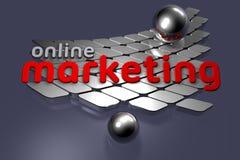 Online Op de markt brengend vector illustratie