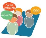 Online Op de markt brengend Stock Afbeeldingen