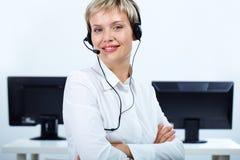 Online operator Stock Image