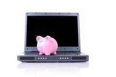 Online oszczędzania zdjęcia stock