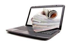 Online overzichtstijdschriften Royalty-vrije Stock Fotografie