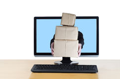 Online Parcel Delivery Stock Photo