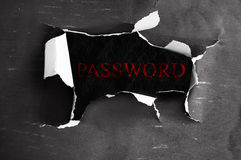 Online password Royalty Free Stock Image