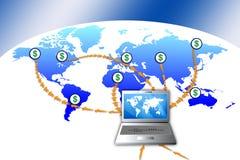 online-pay stock illustrationer