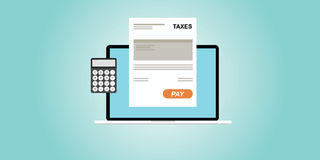 Online paying taxes Royalty Free Stock Image