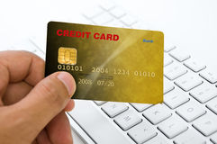 Online payment Royalty Free Stock Photos