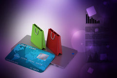 Online payment concept Royalty Free Stock Photography