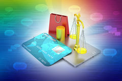 Online payment concept Royalty Free Stock Images