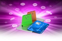 Online payment concept Stock Photography