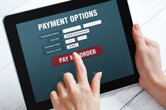 Online  payment concept Stock Image