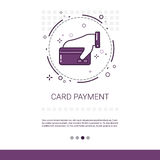 Online Payment Credit Card Service Mobile Transaction Banner Stock Photo