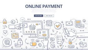 Online Payment Doodle Concept Royalty Free Stock Photo