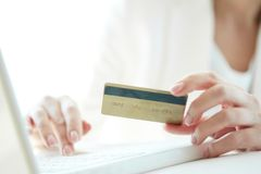 Online payment Stock Image