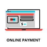 Online payment icon, for graphic and web design. Modern flat editable line design vector illustration, online payment icon, for graphic and web design Royalty Free Stock Photo