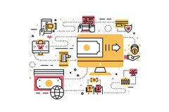 Online payment illustration Stock Photo