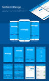 Online Payment Mobile App UI, UX and GUI template. Stock Image