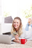 Online payment Stock Photos