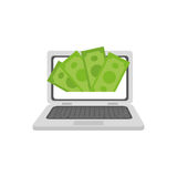 Online payment system. Icon  illustration graphic design Stock Photos