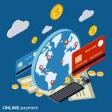 Online payment, web money transfer, financial transaction vector concept Stock Photos