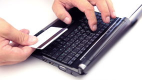 Online payment stock footage