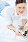 Online payment Stock Photography