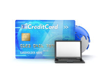 Online payments - abstract illustration Stock Images