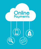 Online payments design. Stock Photography