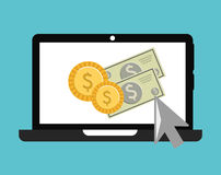 Online payments Stock Image