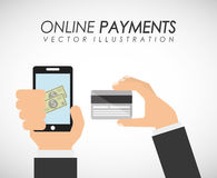 Online payments Stock Photography