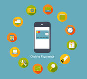 Online Payments Flat Concept Vector Illustration Royalty Free Stock Image