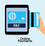 Online payments icons Royalty Free Stock Photos