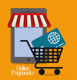 Online payments icons Stock Image