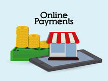 Online payments icons Royalty Free Stock Image