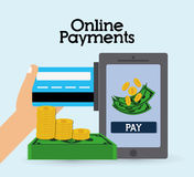 Online payments icons Stock Photography