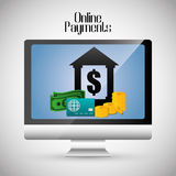 Online payments icons Stock Photo