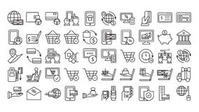 Online payments icons. Stock Photos