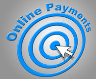 Online Payments Means World Wide Web And Www Royalty Free Stock Photos