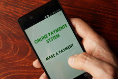 Online payments system. Royalty Free Stock Photo